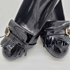 Isola women's black  patent leather shoes